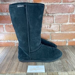 Bearpaw Tall Suede Boots Womens Size 9